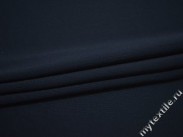 Трикотаж синего цвета хлопок полиэстер АЛ437