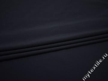 Костюмная синяя ткань полиэстер эластан ВГ168