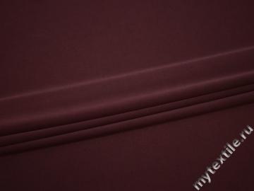 Костюмная бордовая ткань полиэстер эластан ВД172