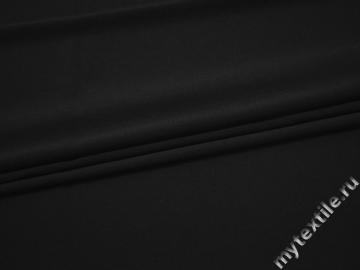 Плательная черная ткань полиэстер эластан БА2131