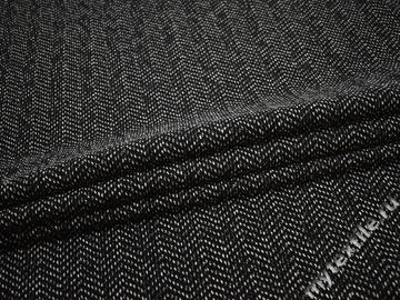 Пальтовая черная серая ткань шерсть полиэстер ГЁ352
