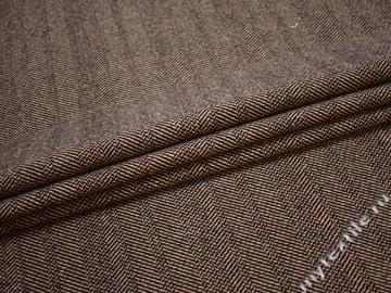 Пальтовая бежевая черная ткань шерсть полиэстер ГЁ353