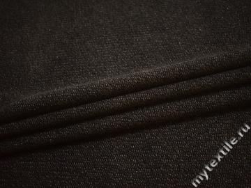Пальтовая черная коричневая ткань шерсть полиэстер ГЁ354