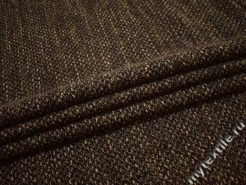 Пальтовая черная коричневая ткань шерсть ГЁ359