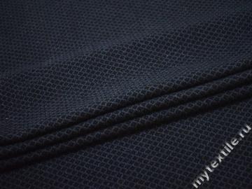 Пальтовая черная синяя ткань шерсть полиэстер ГЁ361