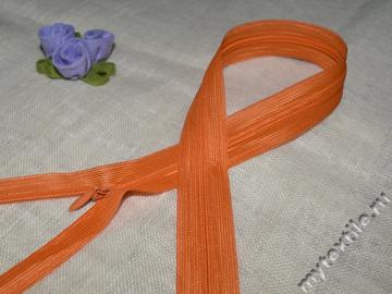 """Молния потайная 50 см """"Оранжевая"""" №60"""