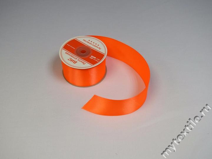 """Атласная лента al-Uc041 """"Оранж"""" 02"""