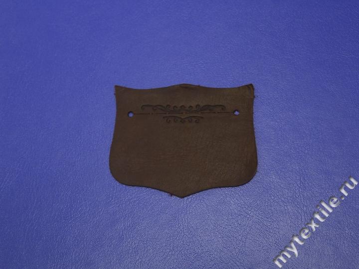 Нашивка коричневого цвета Узор