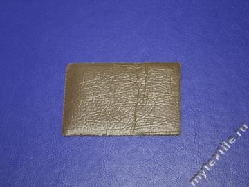 Нашивка однотонная коричневая