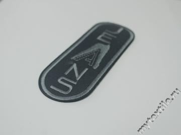 Термонаклейка черно-серая с надписью