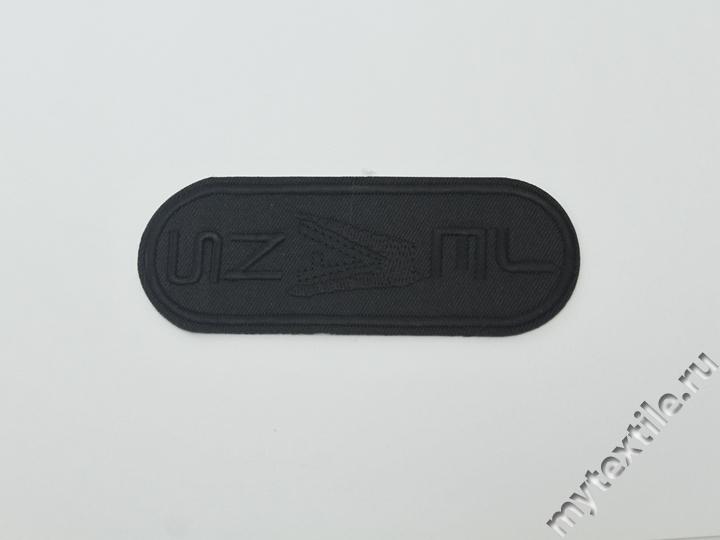 Термонаклейка черная с надписью
