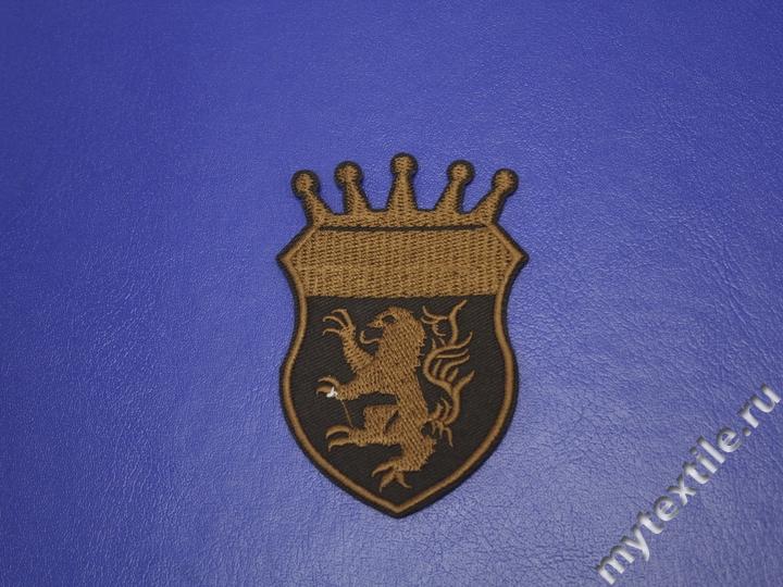 Термонаклейка эмблема коричневая