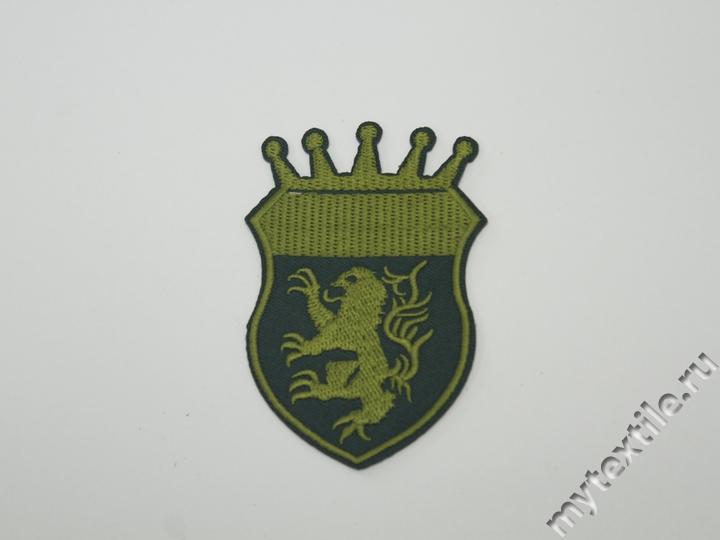Термонаклейка эмблема черного цвета