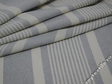 Матрасная ткань серая в полоску