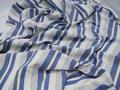 Матрасная ткань сине-серая в полоску