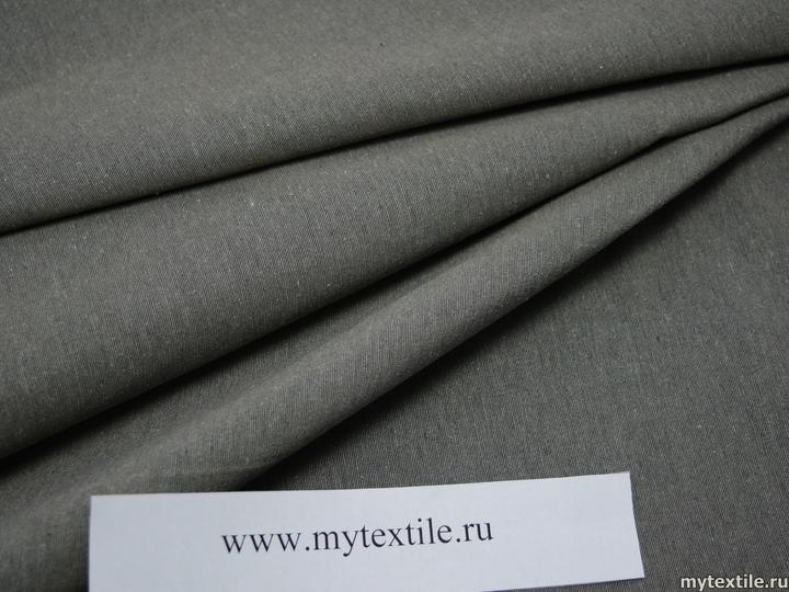 Матрасная ткань однотонная серая