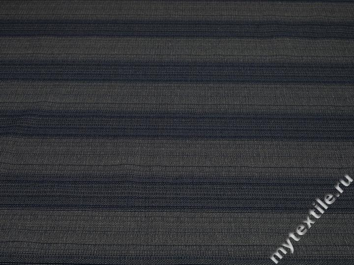 Джинс сине-серый в полоску