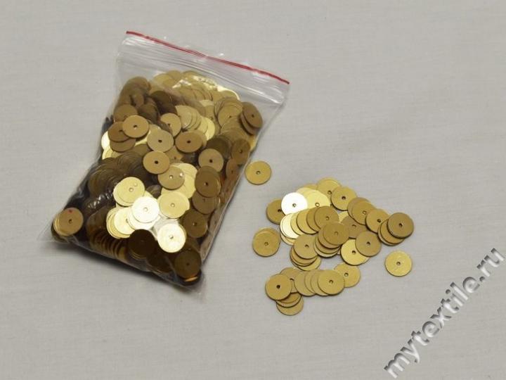 Пайетки золотого цвета 1 см