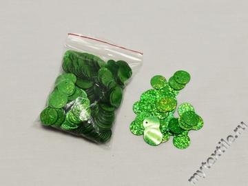 Пайетки зеленого цвета 1,4 см