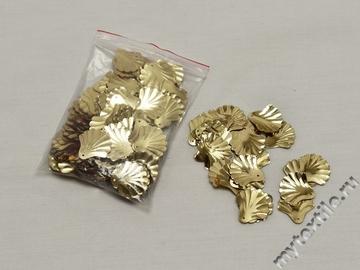 Пайетки пришивные золотого цвета 1,9 см