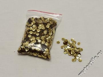 Пайетки золотого цвета 0,6  см