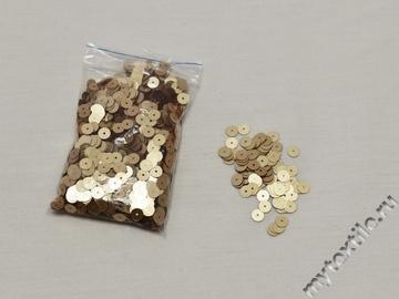 Пайетки золотого цвета 0,5 см