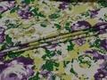 Джинс цветочным узором стрейч ВА336