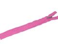 Неразъёмная потайная  молния розовая 25 см, пластик, тип 7