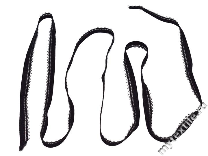 Декоративная резинка черного цвета 1 см